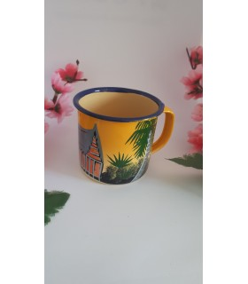 Mug émaillé tropical